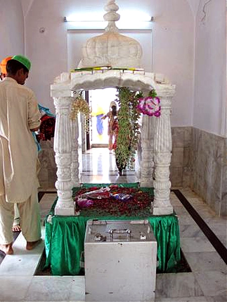 Inside the Kartarpur Sahib gurudwara