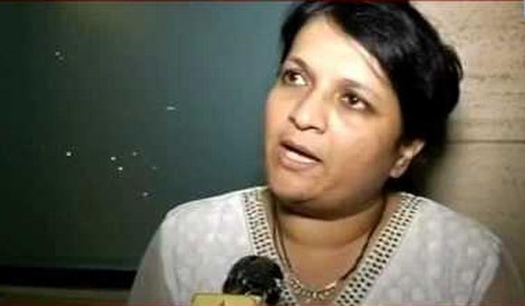 A TV grab showing RTI activist and IAC member Anjali Damania