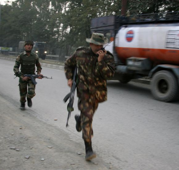PHOTOS: Militants attack hotel in Srinagar