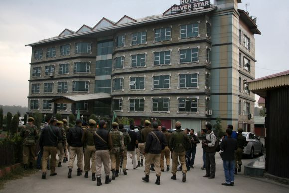 PHOTOS: Militants attack hotel in Srinagar; one killed