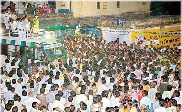Sharmila's padyatra has attracted huge crowds in Kadapa district