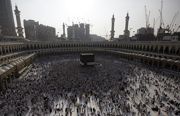 On a pilgrimage to Mecca for Haj