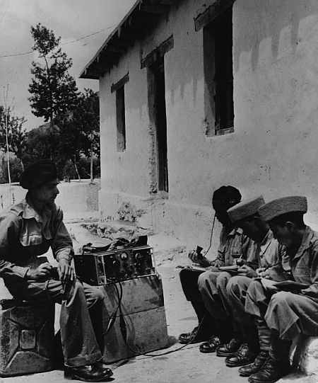 Civilian recruits enlisted to help Indian troops in Ladakh during the 1962 war with China. Photograph: Radloff/Three Lions/Getty Images