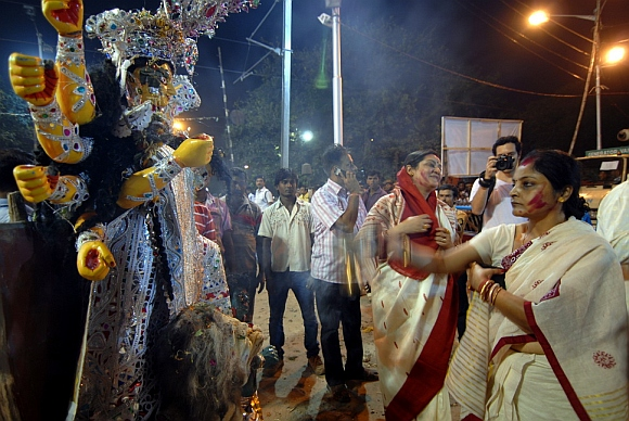 PICS: Durga Puja ends in West Bengal with idol immersion