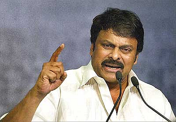 Tirupati member of legislative assembly and Telugu star Chiranjeevi