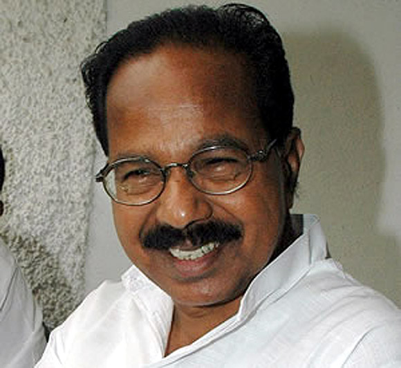Newly appointed Petroleum minister Veerappa Moily