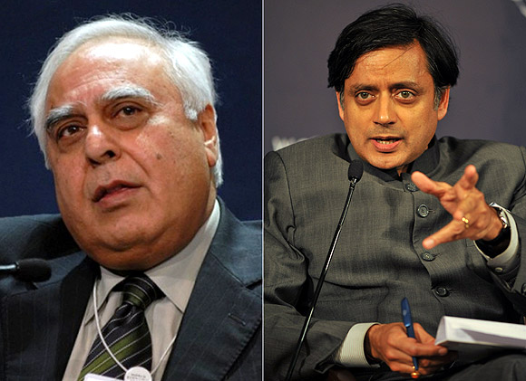 Kapil Sibal and Shashi Tharoor