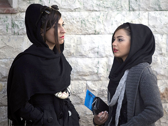 Two young women in Tehran: Photograph used only for representational purposes