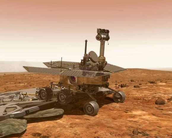 Curiosity drives onto the surface of Mars to test the  chemistry of the atmosphere