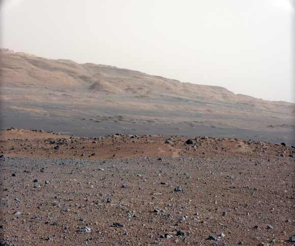 The gravelly area on Mars
