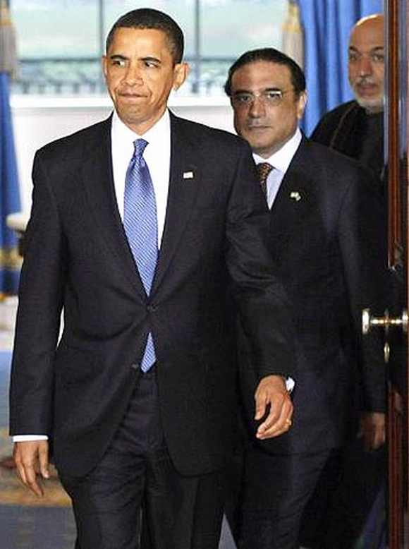 US President Barack Obama with his Pakistan counterpart Asif Ali Zardari