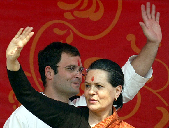 Will Rahul Gandhi, seen here with his mother Sonia, finally be anointed minister?