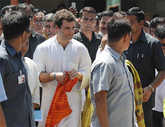 Rahul at a relief camp in Assam