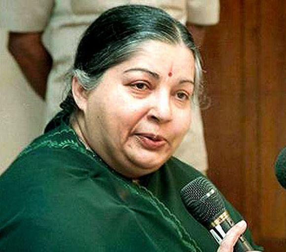 Tamil Nadu Chief Minister Jayalalithaa.