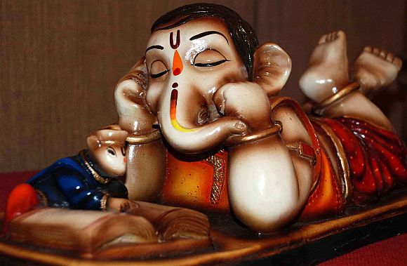 Lord Ganesh in many avatars