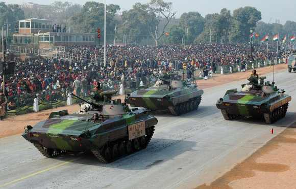 BMP-II infantry combat vehicles will be deployed along the Indi