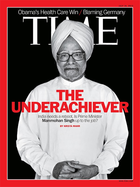 Dr Singh on the cover of 'Time' magazine