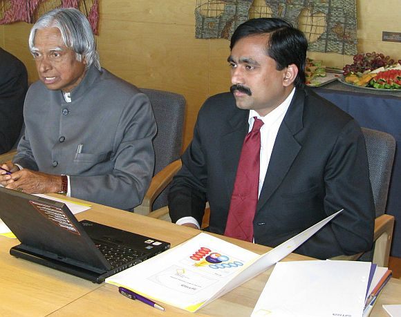 Ponraj with Dr Kalam