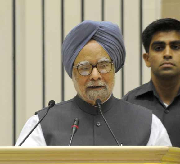 PM addresses a press conference at Vidyan Bhawan in New Delhi