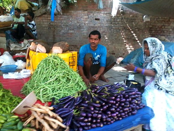 Retail stores like Reliance Fresh and Safal have already dented the profit margins for street vendors