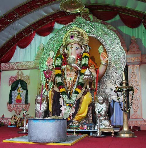 Ganpati Pandal in Matunga east.