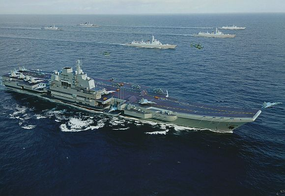 Artist's impression of the aircraft carrier