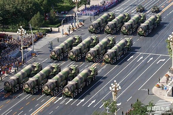 DF-31A TEL missiles on display at a parade