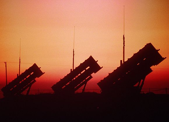 A Patriot missile battery