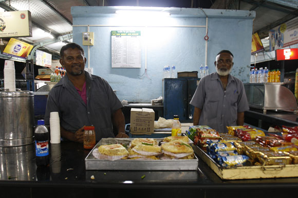 Haji Abdul Rashid's stall and its tasty sandwiches
