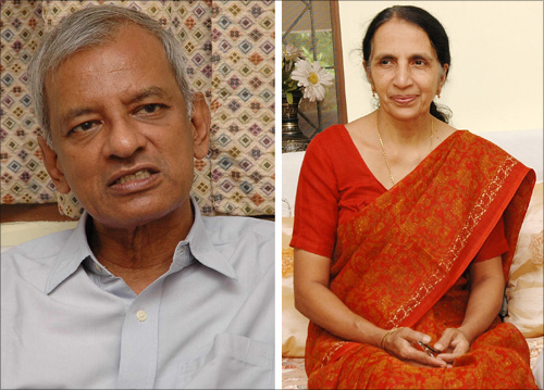 Suresh Moses Lee and his wife
