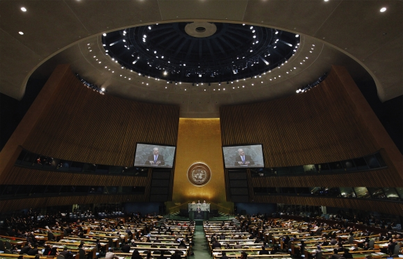 Netanyahu addresses the 67th United Nations General Assembly