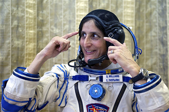 Sunita Williams at the Star City cosmonaut training centre outside Moscow