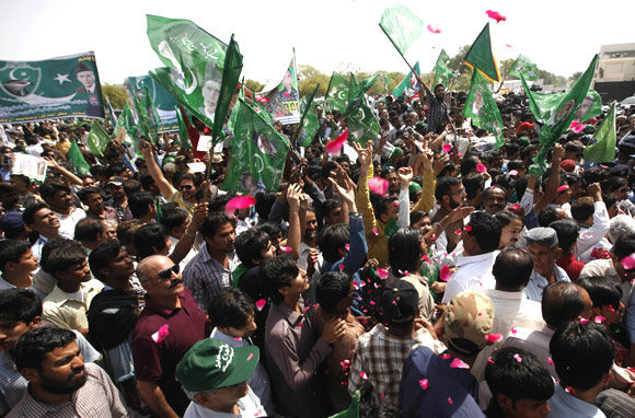 A political rally in Karachi