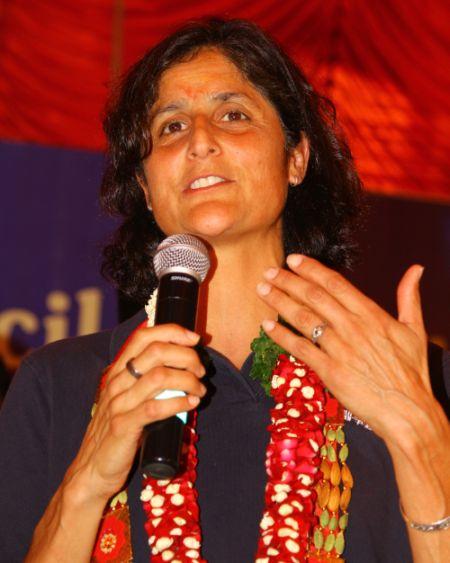 Sunita Williams addressing the gathering