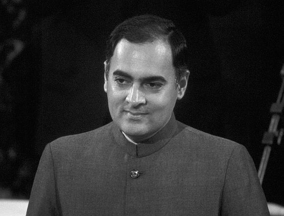 Late Indian Prime Minister Rajiv Gandhi