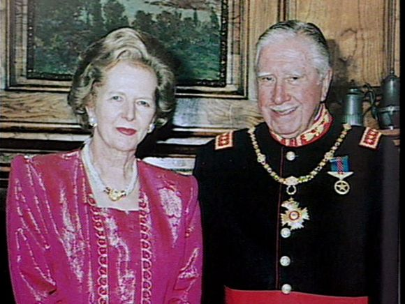 Margaret Thatcher and Augusto Pinochet in this 1994 photograph