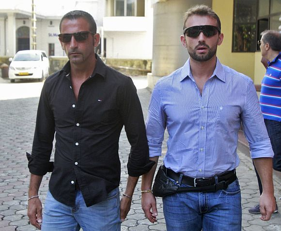 Italian marines Massimiliano Latorre and Salvatore Girone