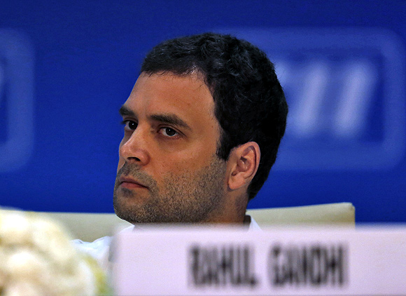 Rahul Gandhi attends the 2013 annual general meeting and national conference of the Confederation of Indian Industry in New Delhi