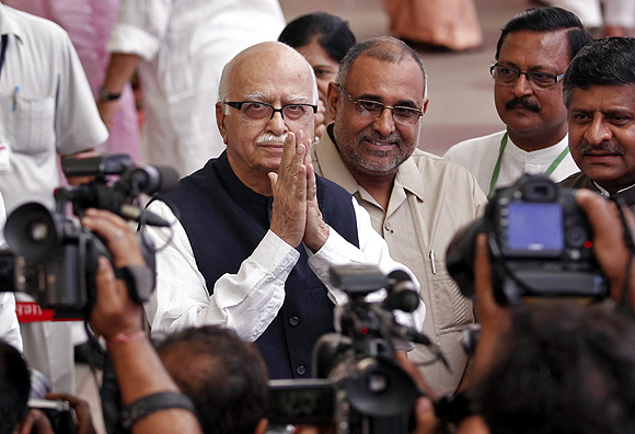 Bharatiya Janata Party leader Lal Krishna Advani