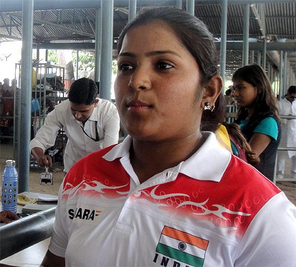 Archer Archana Kumari. Sushma Kumari's sister is in the background