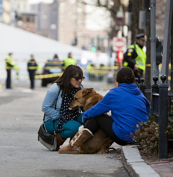 Boston Marathon ends in pain and tears