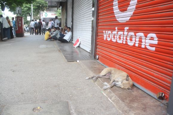 Many shops had downed their shutters during Thursday's dawn-to-dusk bandh in Thane city