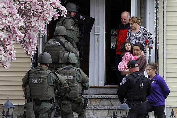 Residents are asked to leave their home as SWAT teams conduct a house to house search for Dzhokar Tsarnaev