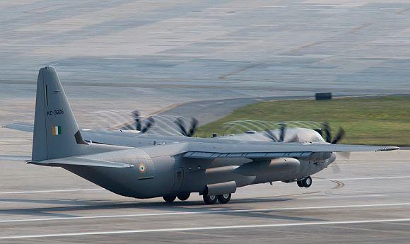 A C-130J aircraft