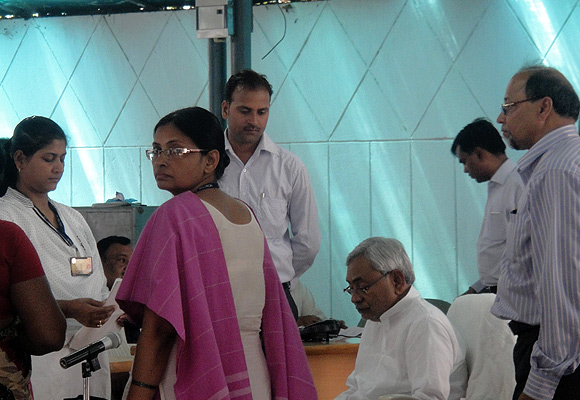 Bihar Chief Minister Nitish Kumar at his Janata Darbar