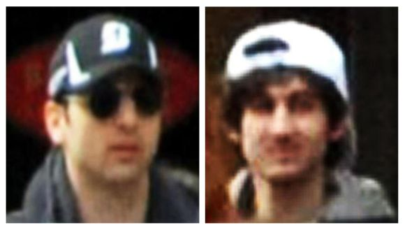 Dzhokhar (right) and Tamerlan Tsarnaev are seen in this security camera grab ahead of the Boston Marathon bombings