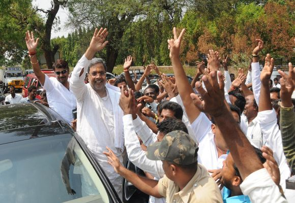 Karnataka Congress leader Siddaramaiah campaigns in  Varuna constituency