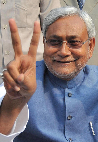Nitish Kumar after his re-election in 2010.