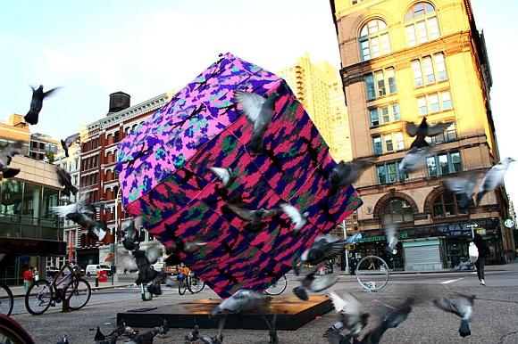 The eccentric art of 'yarn bombing'