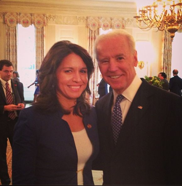 Tulsi Gibbard with US Vice President Joe Biden